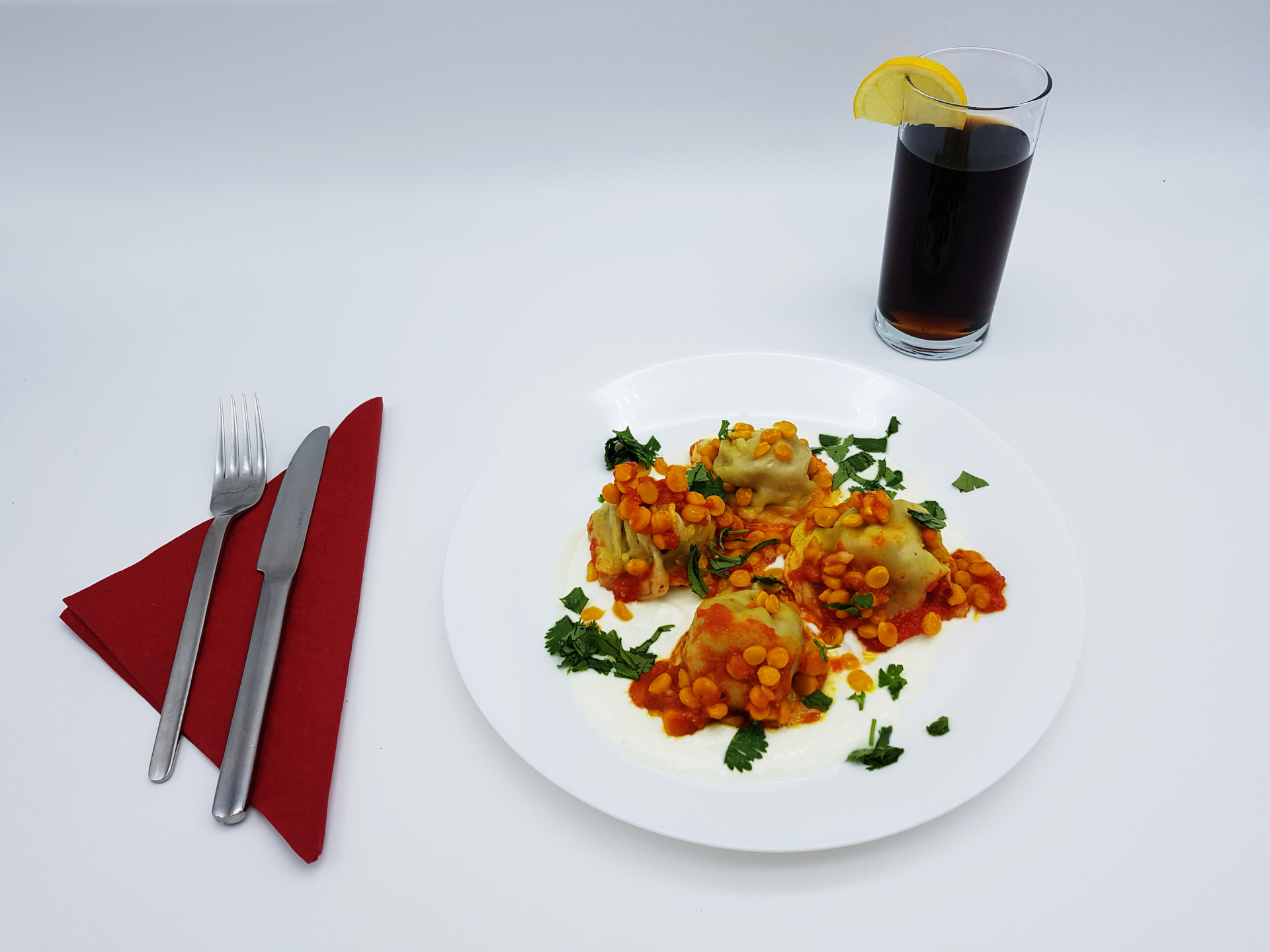 Sie haben die Möglichkeit Maultaschen gefüllt mit Fleisch im Restaurant Kabul in Wuppertal zu genießen.