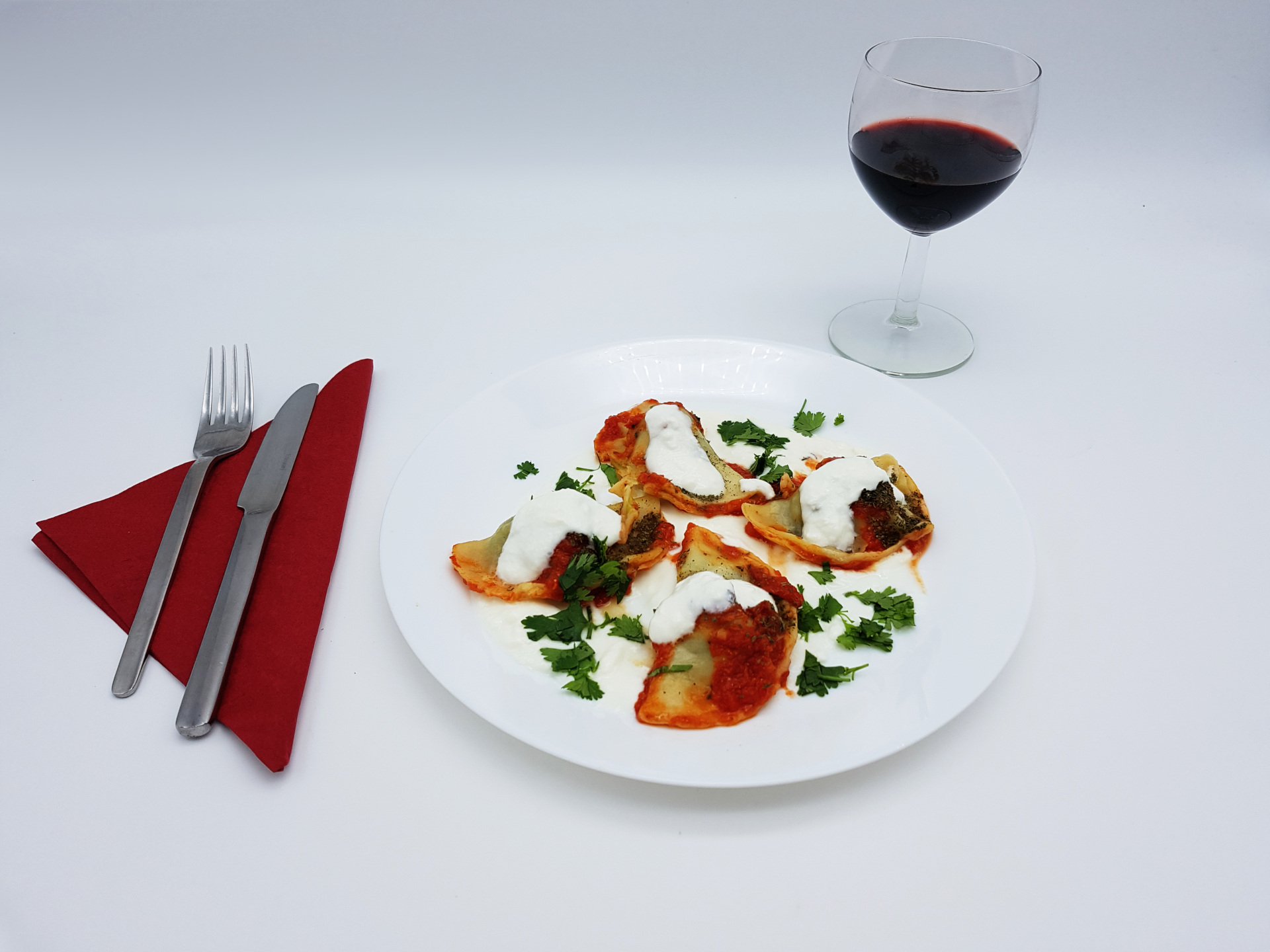 Wir bieten Ihnen im Restaurant Kabul in Wuppertal vegetarische Maultaschen an.